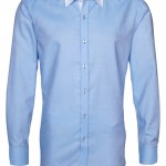chemise homme col contrastant