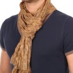 Echarpe cheche homme motif floral printé